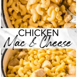 chicken mac and cheese pinterest collage