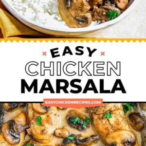 chicken marsala pinterest collage
