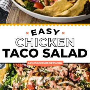 chicken taco salad pinterest collage