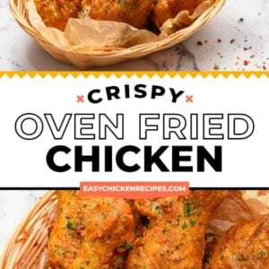 oven fried chicken pinterest collage