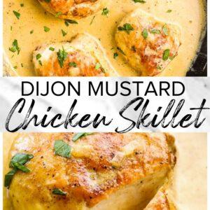 dijon mustard chicken pinterest collage