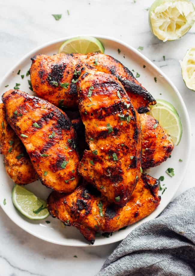 best grilled chicken recipe on plate