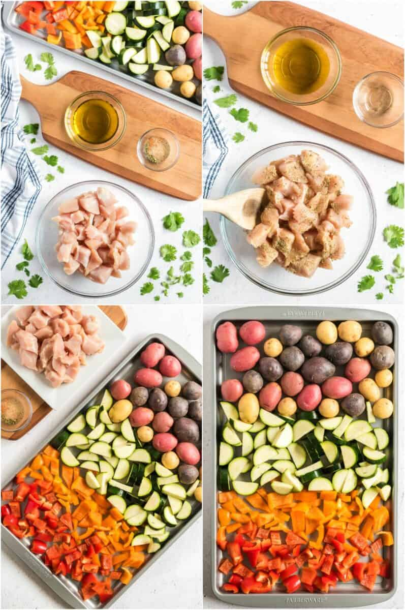 how to make healthy sheet pan chicken dinner