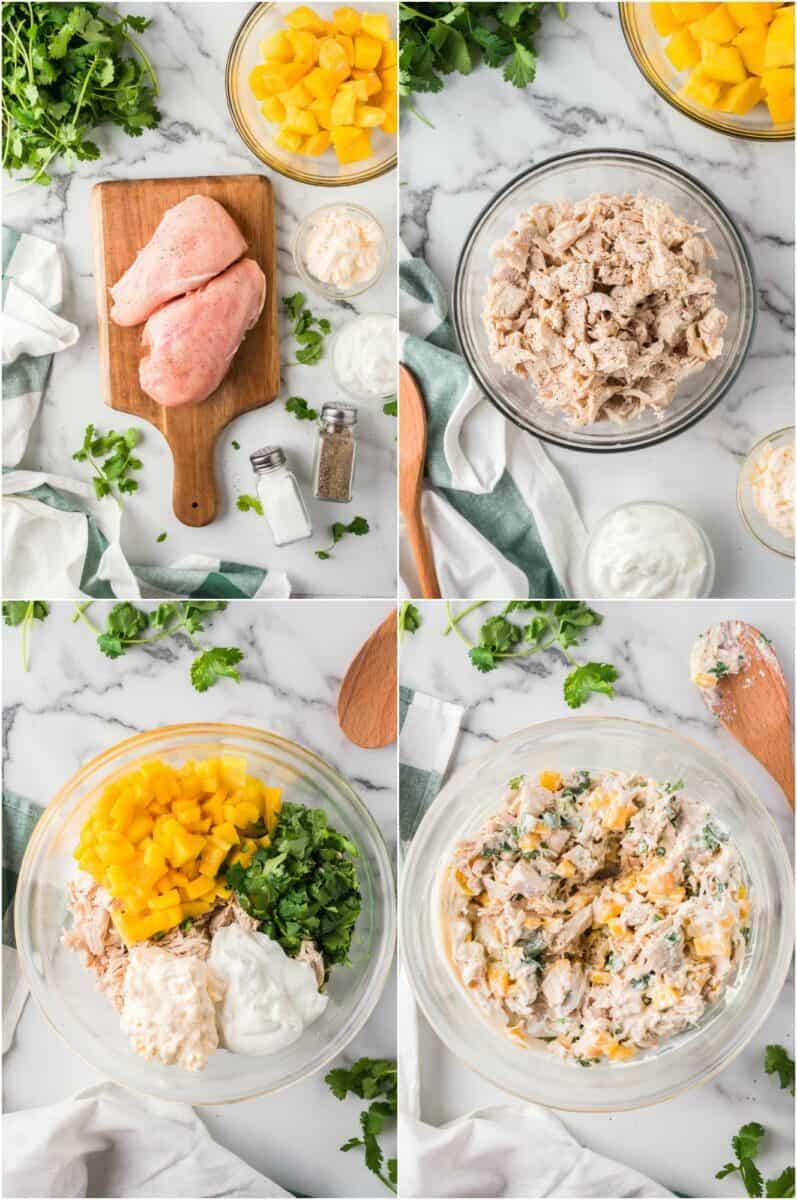 how to make mango chicken salad