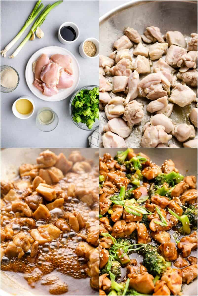 step by step photos for how to make teriyaki chicken thighs