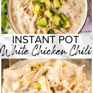 instant pot white chicken chili pinterest collage