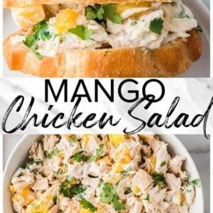 mango chicken salad pinterest collage
