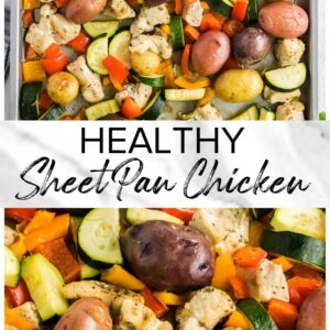 sheet pan chicken pinterest collage