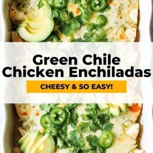 green chile chicken enchiladas pinterest