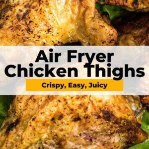 air fryer chicken thighs pinterest collage