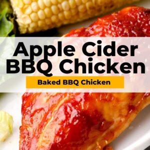 baked bbq chicken pinterest collage