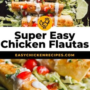 chicken flautas pinterest collage