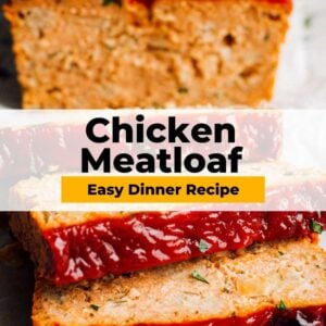 chicken meatloaf pinterest collage