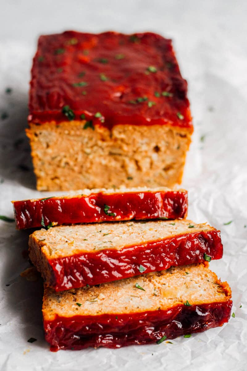 sliced chicken meatloaf