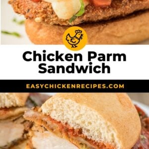 chicken parmesan sandwich pinterest collage