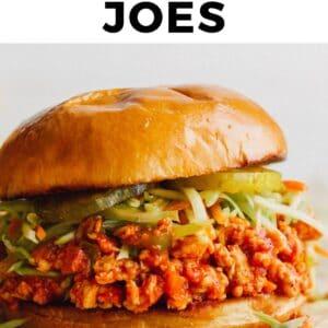 chicken sloppy joes pinterest collage