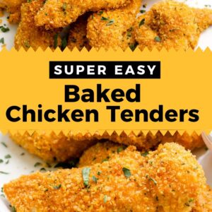chicken tenders pinterest collage