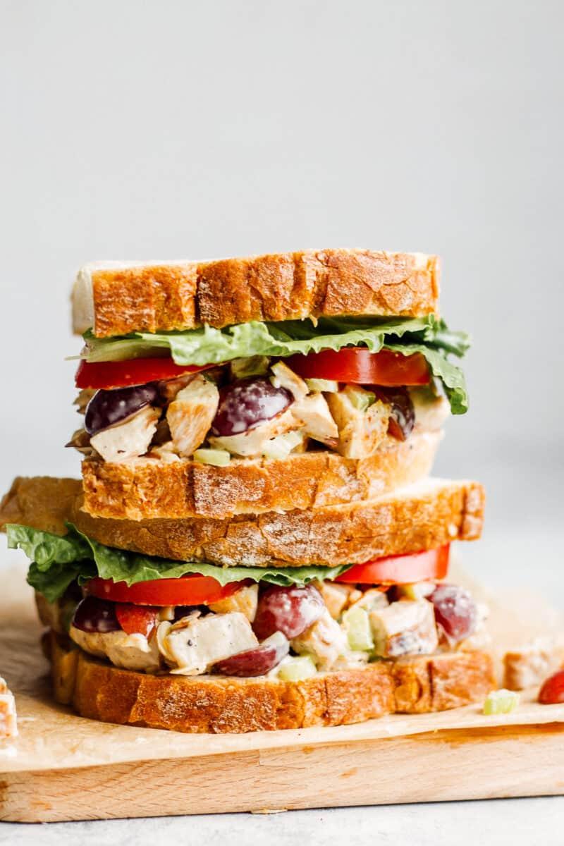 stacked copycat panera sandwich