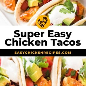 easy chicken tacos pinterest collage