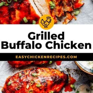 grilled buffalo chicken pinterest collage