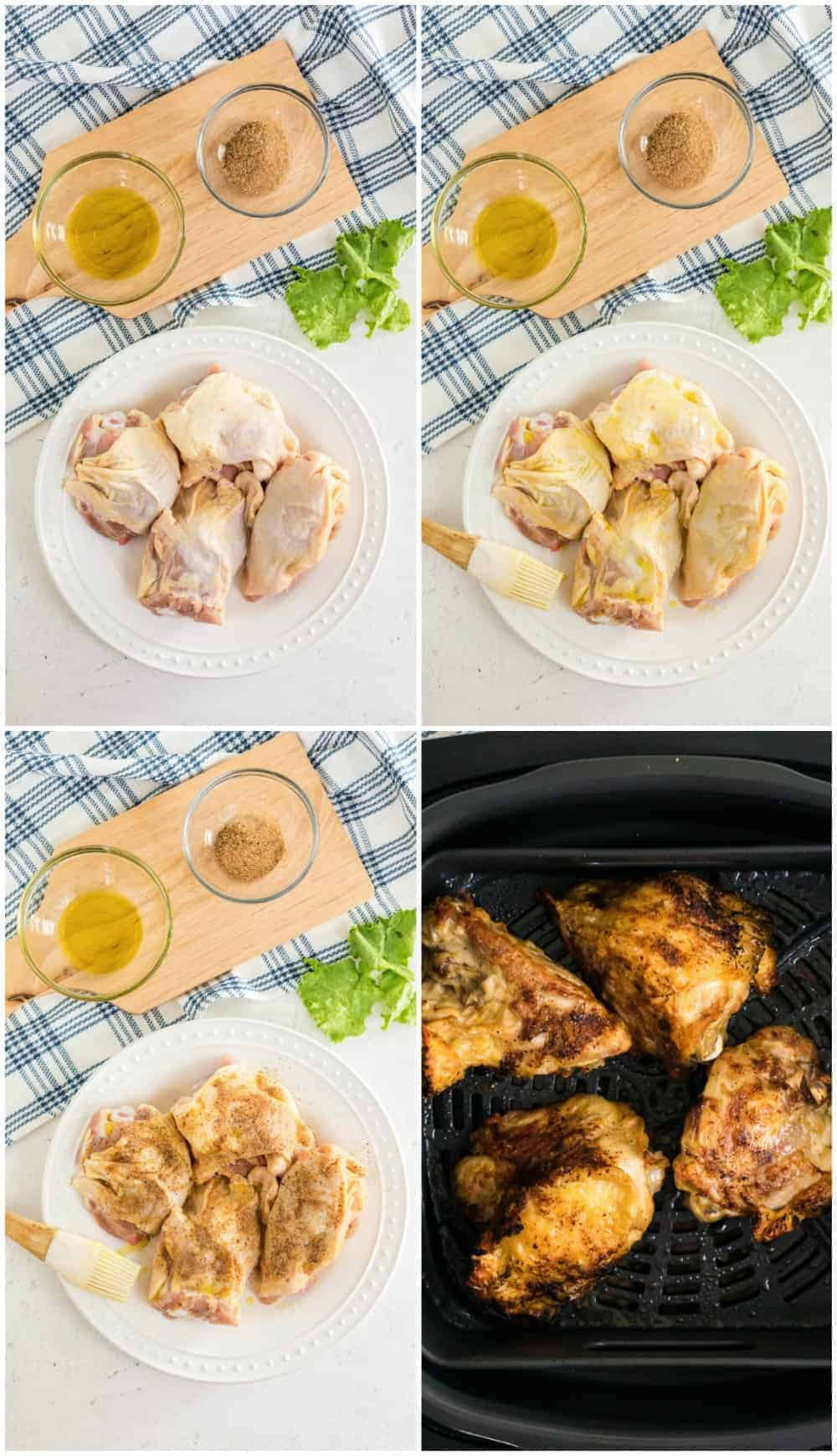 step by step photos of how to make air fried chicken