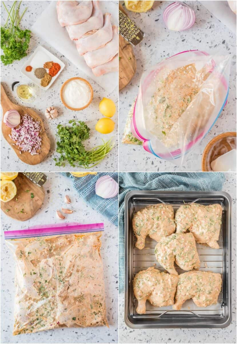 step by step photos of how to make yogurt marinated chicken
