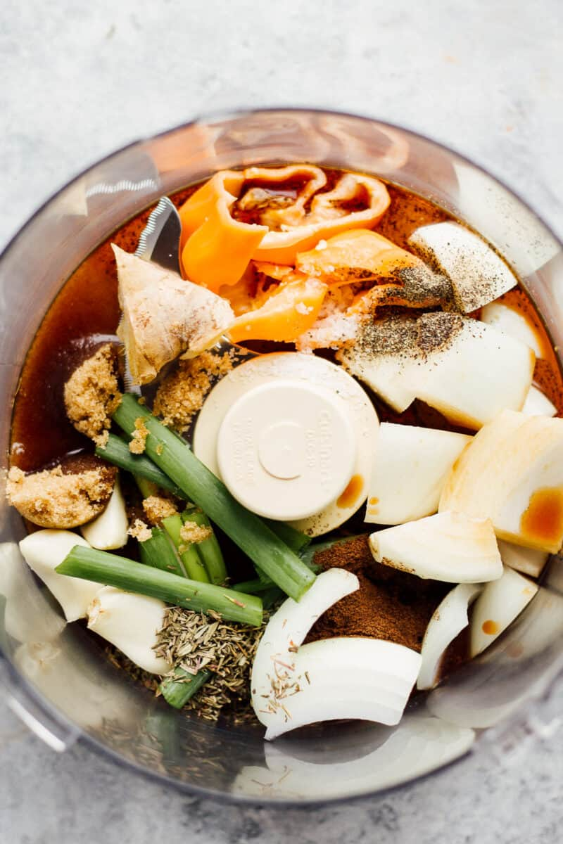 ingredients for making jerk chicken marinade