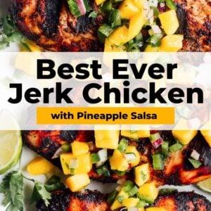 jerk chicken recipe pinterest collage