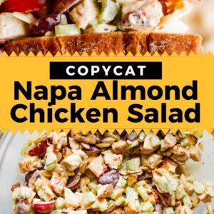 napa almond chicken salad pinterest collage