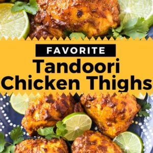 tandoori chicken thighs pinterest collage