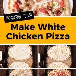 white chicken pizza pinterest collage