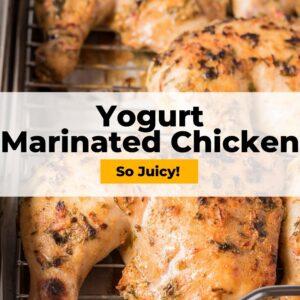 yogurt marinated chicken pinterest collage