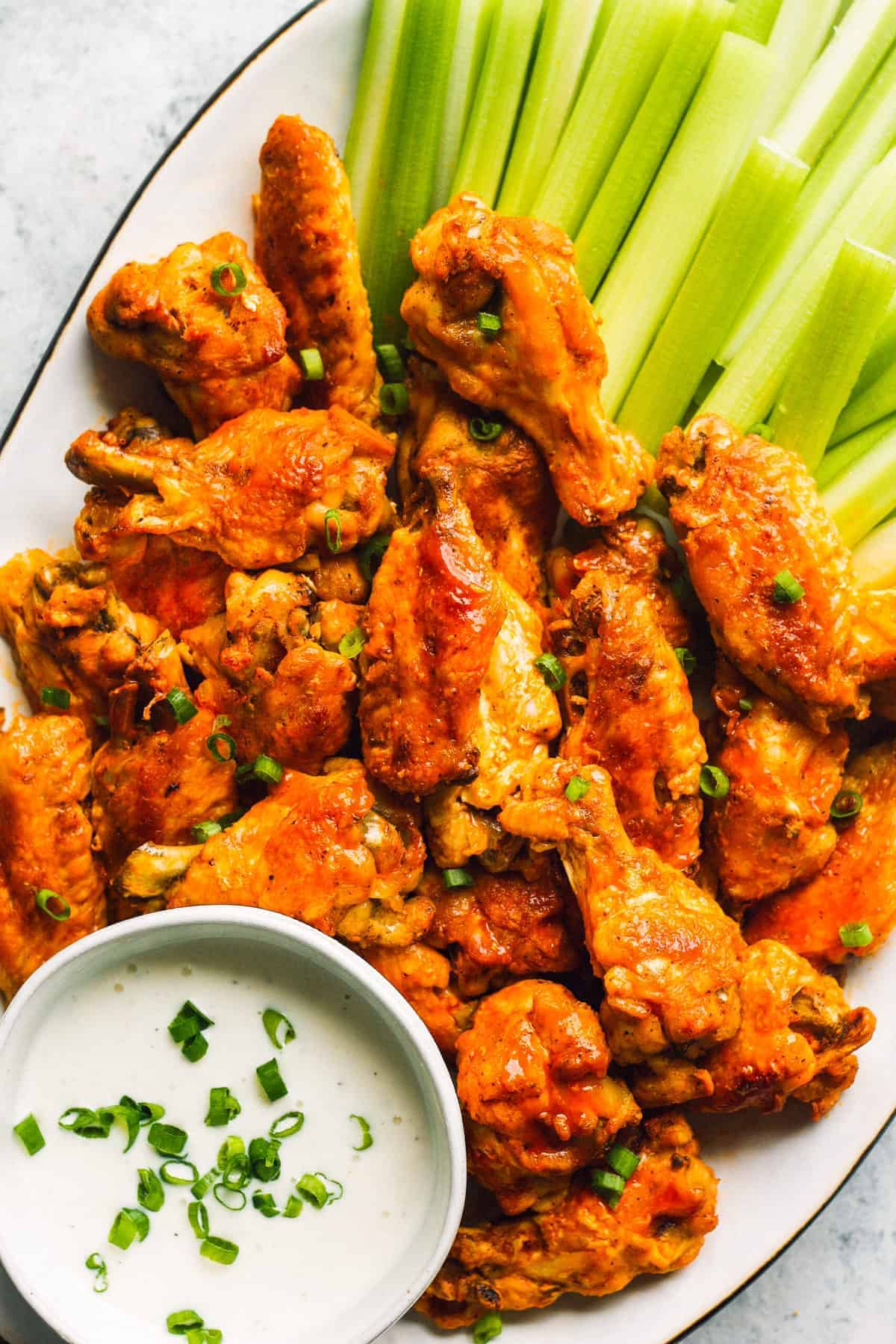 instant pot buffalo wings with ranch