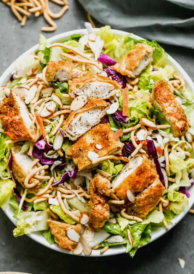 Applebee's Oriental Chicken Salad Recipe copycat in bowl