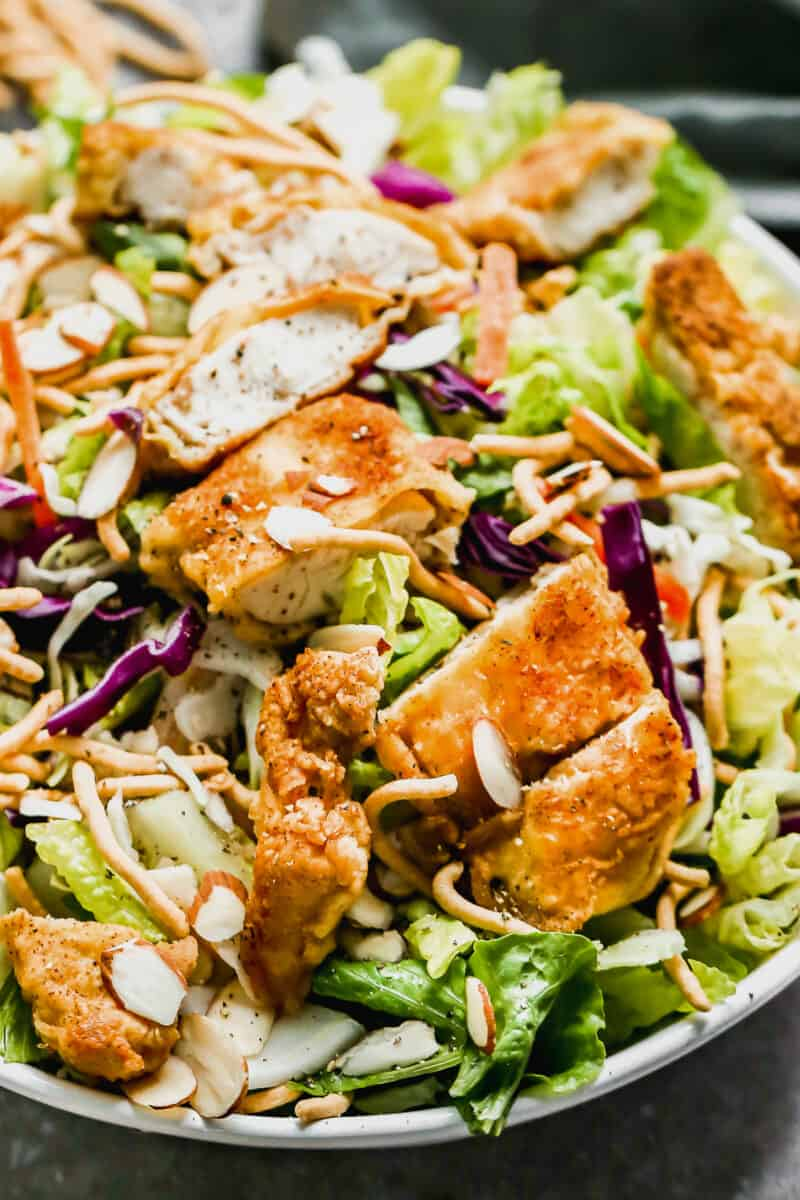 up close image of Oriental Chicken Salad