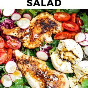 chicken burrata salad pinterest