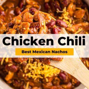 chicken chili pinterest collage