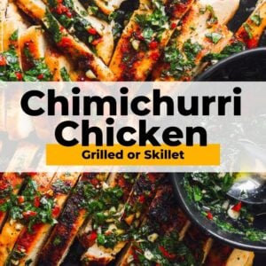 chimichurri chicken pinterest collage