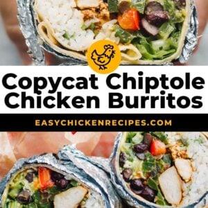 chipotle chicken burritos pinterest
