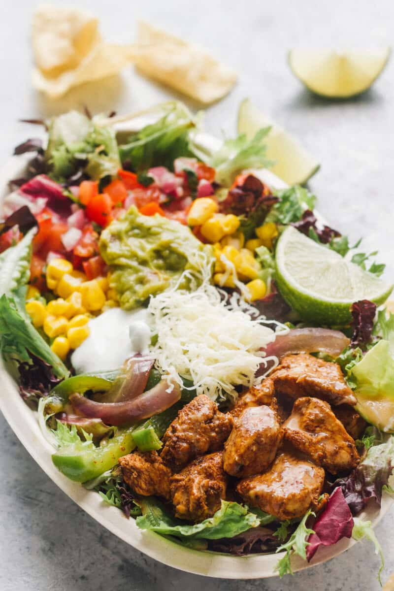 side image of mexican chicken salad