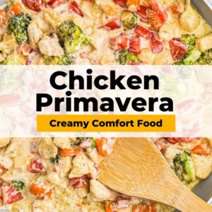 chicken primavera pinterest collage