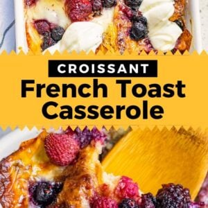 croissant french toast bake pinterest collage