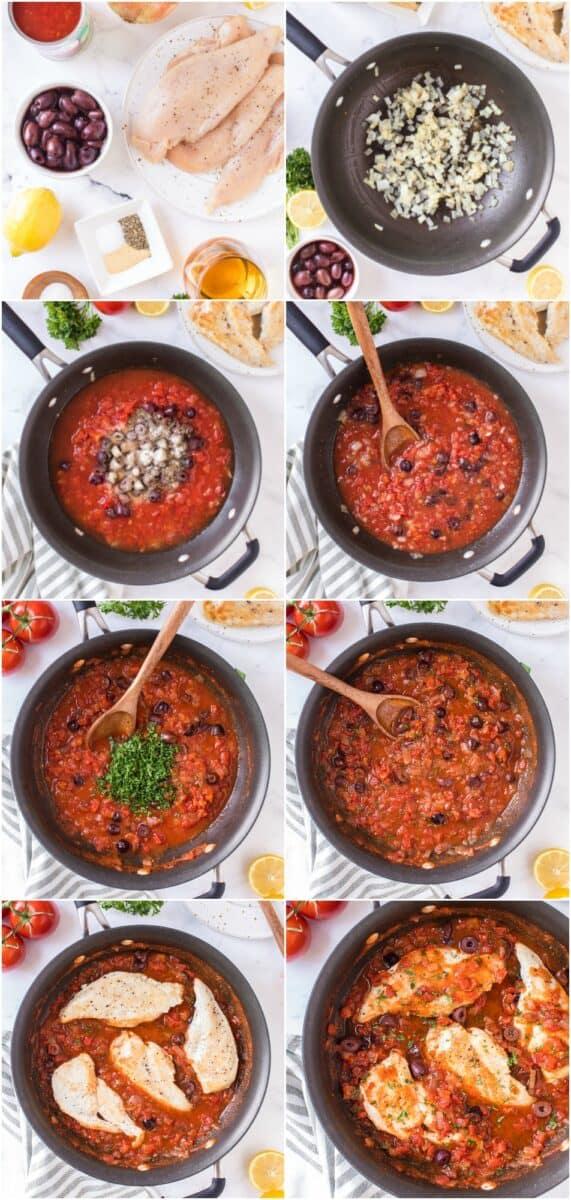 step by step photos of how to make mediterranean chicken