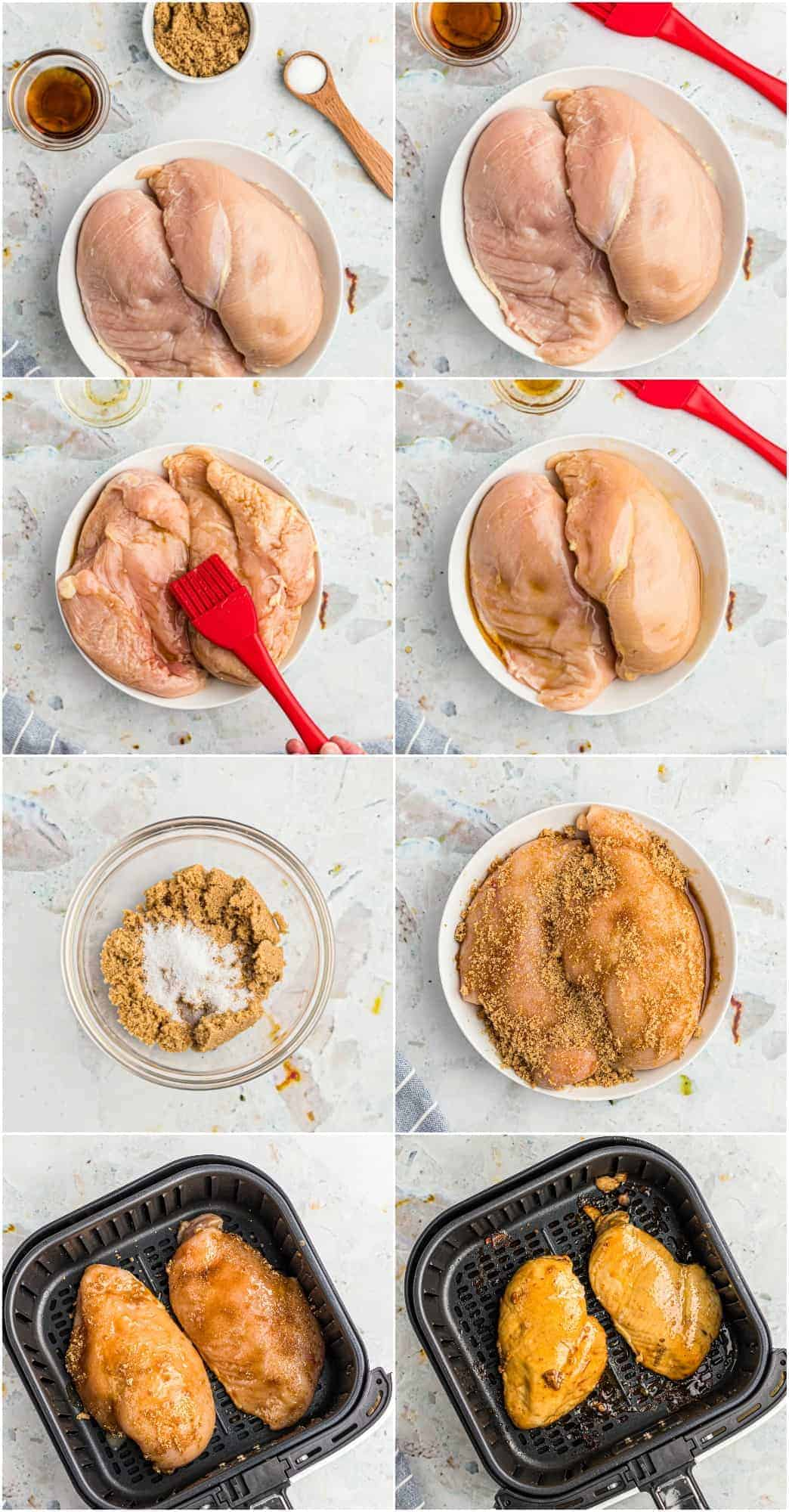 step by step photos of how to make air fryer chicken breast
