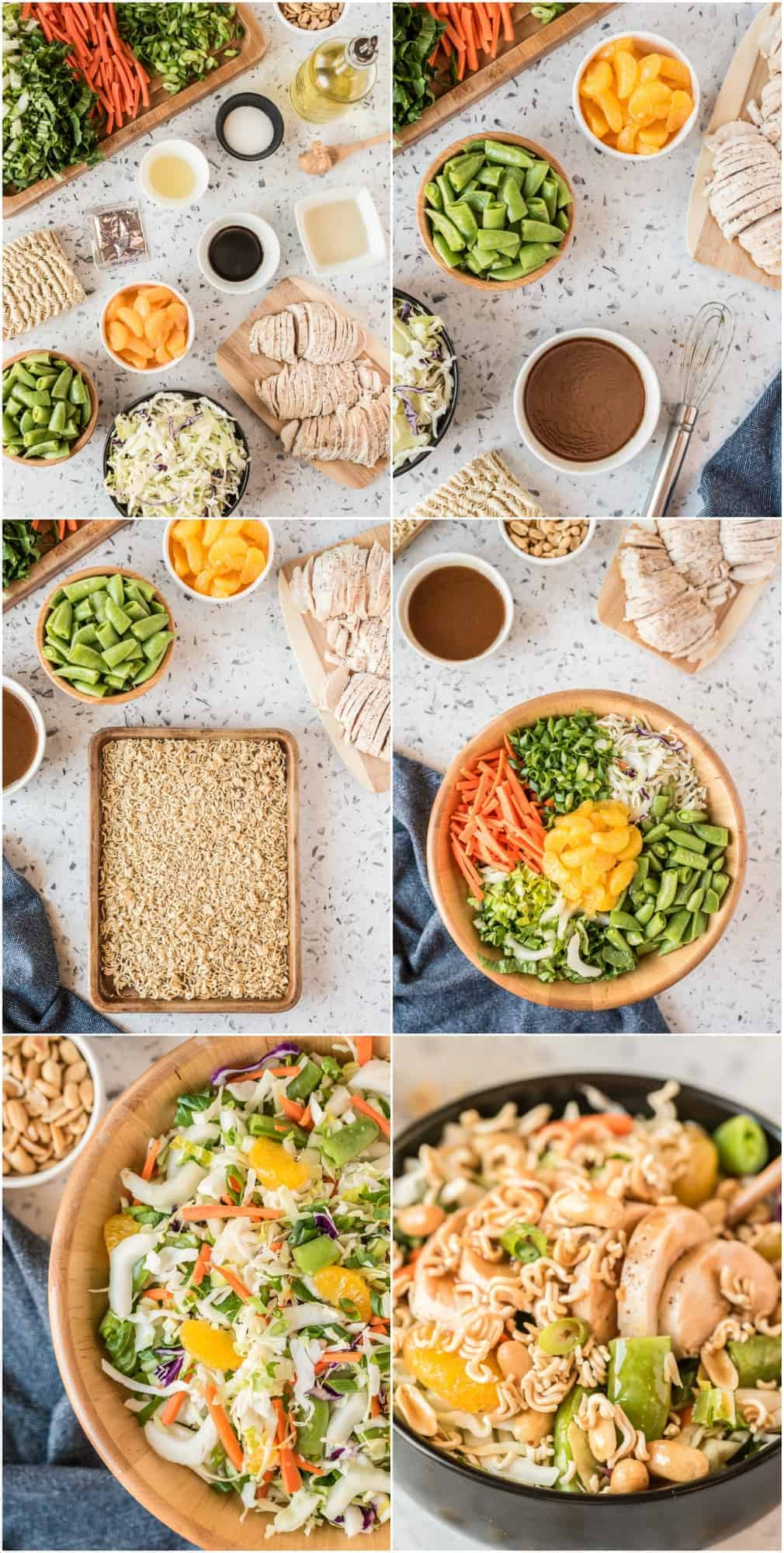 step by step photos of how to make chinese chicken salad