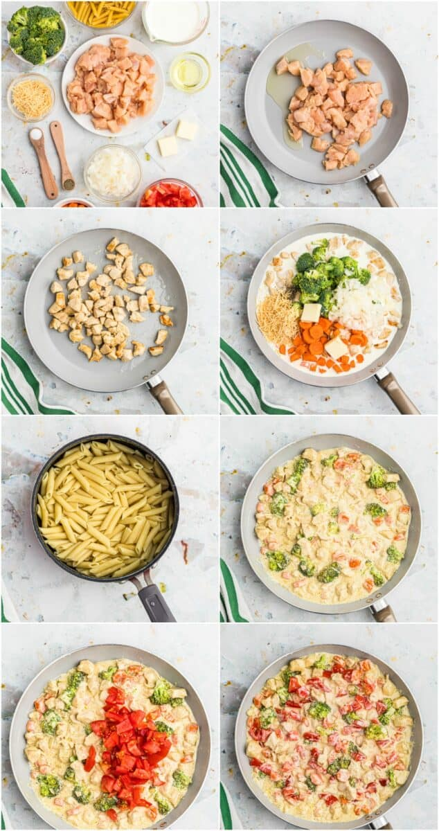 step by step photos of how to make chicken primavera