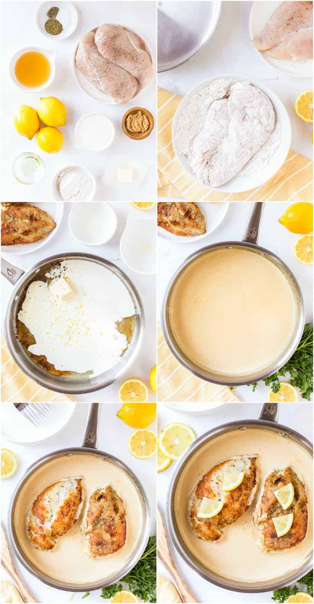 step by step photos of how to make creamy lemon chicken