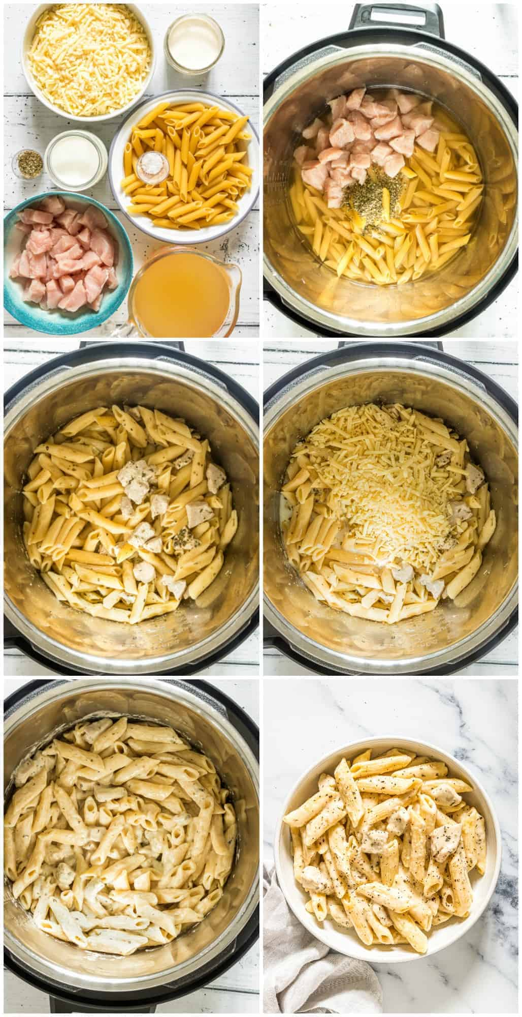 step by step photos of how to make cheesy chicken pasta