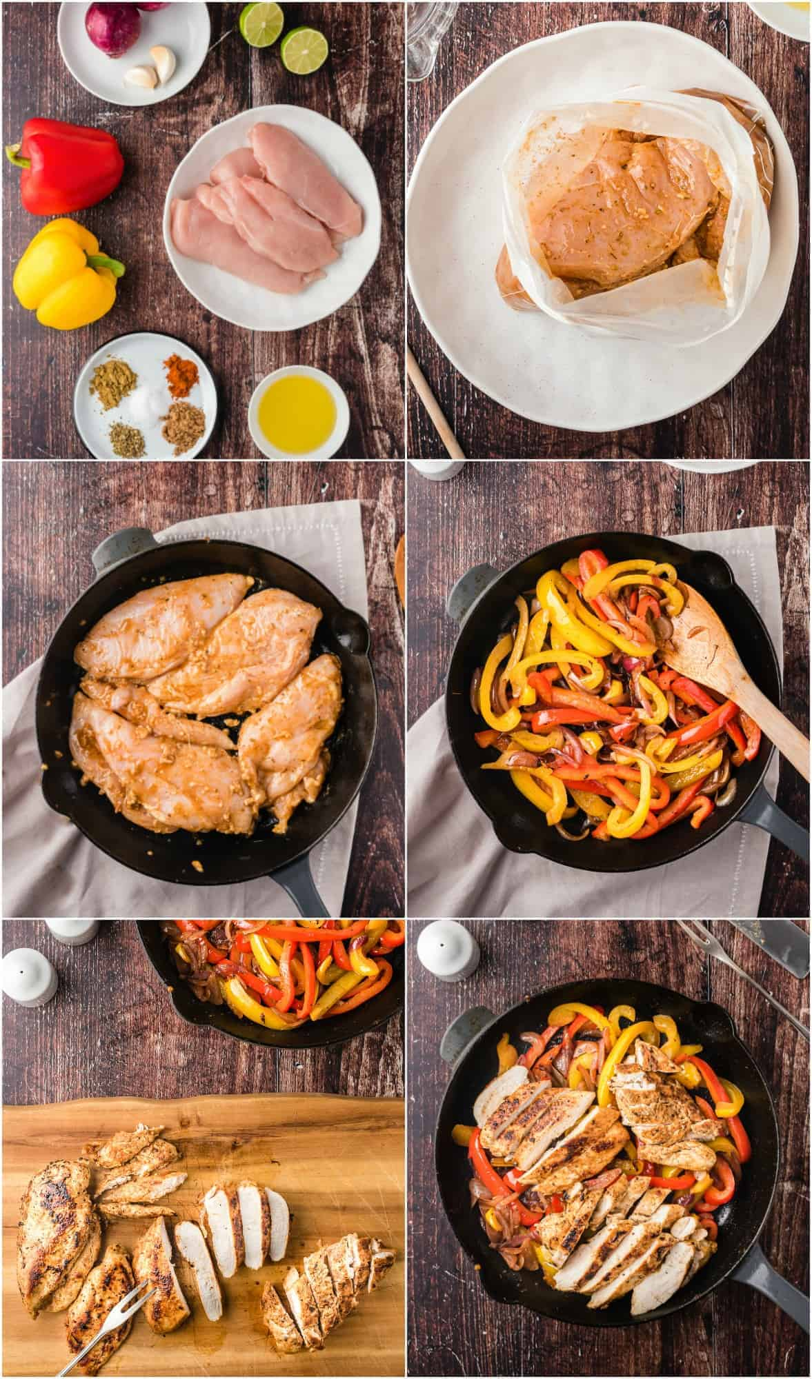 step by step photos of how to make chicken fajitas