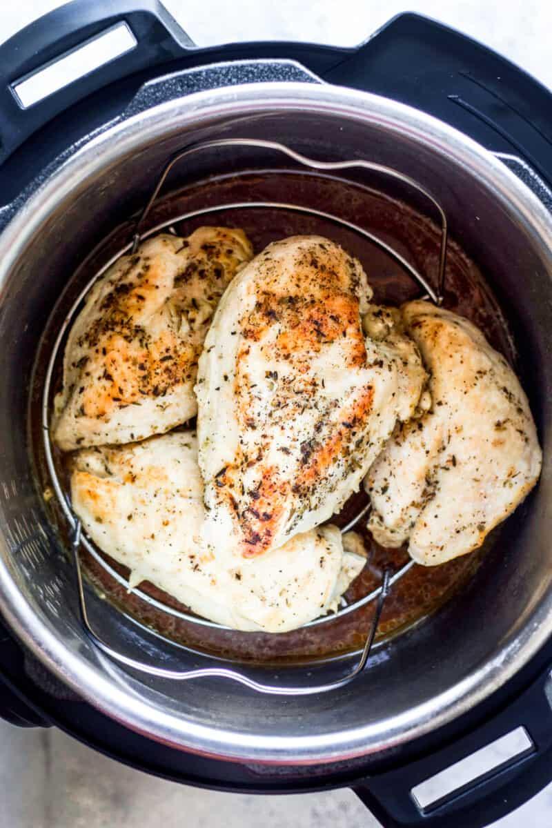 seasoned chicken breasts in instant pot